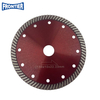 125*2.4/1.4*10*78*22.23mm Hot Press 6inch CN Supplier Turbo Diamond Circular Saw Blade for Dry Cutting Disc Ceramic Tile