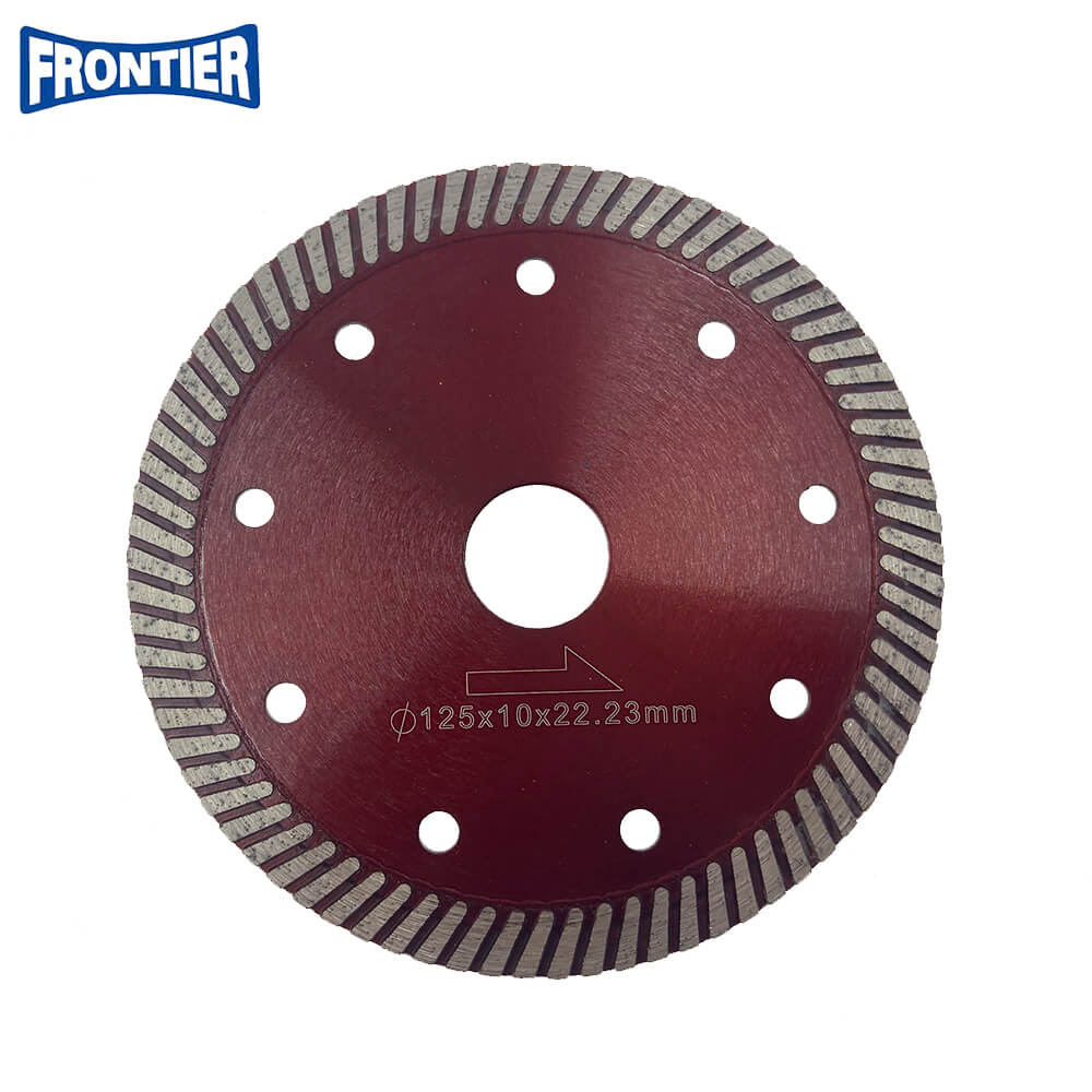 150*2.4/1.4*10*80*22.23mm Hot Press 6inch CN Supplier Turbo Diamond Circular Saw Blade for Dry Cutting Disc Ceramic Tile