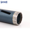33*2.7*10*80*M14 Thread Silver Brazed Diamond Continuous Rim Core Drill Bit for Wet Cutting Reinforced Concrete , Concrete