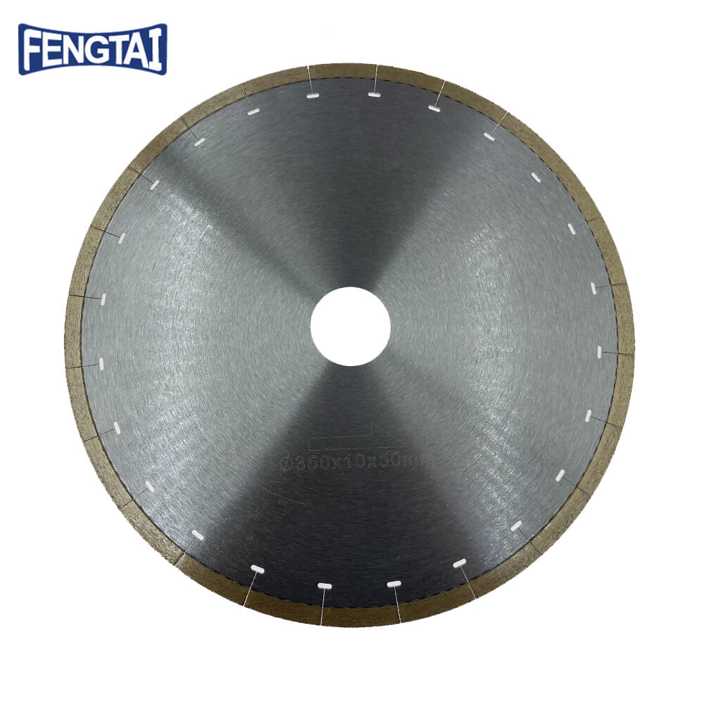 350*2.2/1.8*10*50mm Hot Press 12inch Continuous Rim Diamond Saw Blade for Cutting Ceramics