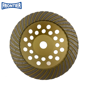 180*25*5*40*22.23 Silver Brazed 7inch Diamond Turbo Grinding Cup Wheel for Concrete , Stone