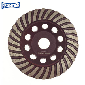 125*20*5*30*22.23mm Silver brazed 5inch diamond turbo grinding cup wheel for concrete , stone