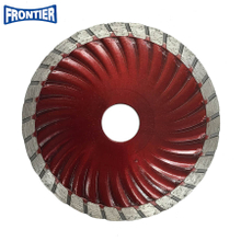"4.5""inch 115x8x22.23mm Hot press sintered Wave turbo diamond saw blade for cutting concrete"