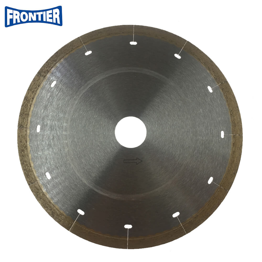 180*1.8/1.4*7*25.4mm Hot Press 7inch Hot Press continuous rim diamond saw blade for cutting hard ceramic tile , granite